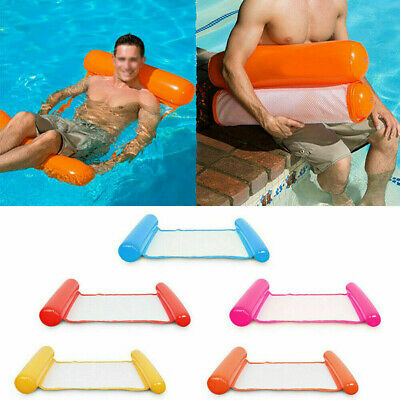 Inflatable Floating Water Hammock Float Pool Lounge Bed Swimming Chair CB • 9.99£