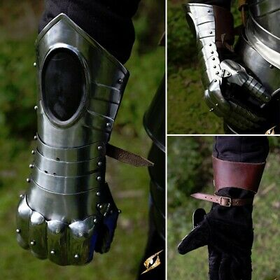 Black Ice Gauntlets. Perfect For Medieval Costume Re-enactment & LARP Armour • 180£