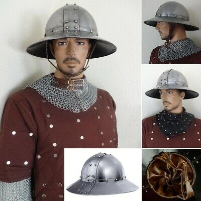 13th Century Medieval Kettle Helmet Ideal For Costume Or LARP • 102£