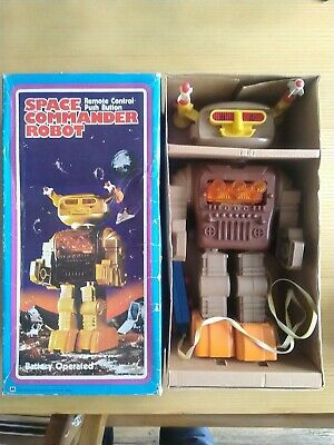 Space Commander Robot 1970's Hong Kong Boxed / Working Vintage Playwell  • 60£