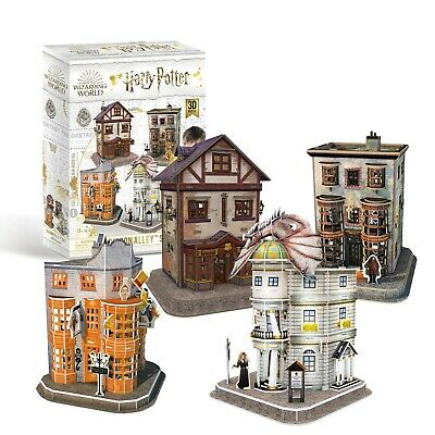 Harry Potter Diagon Alley - Set Of 4 Shops - 3D Puzzles With Interior! OFFICIAL • 26.95£