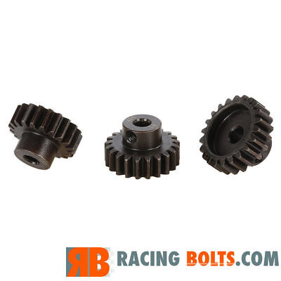 Mod1 Hard Alloy Steel Pinion Gear 5mm Shaft For Ebuggy 1/8th Off Road 11T - 27T • 4.99£