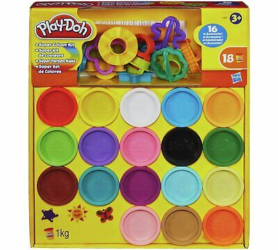 New Play-Doh Super Rainbow Colour Kit 18 Tubs Creative Children's Toy Gift Dough • 14.50£