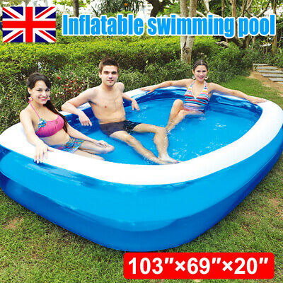 Large Swimming Pool Family Garden Outdoor Summer Inflatable Kids Paddling Pools • 36.99£