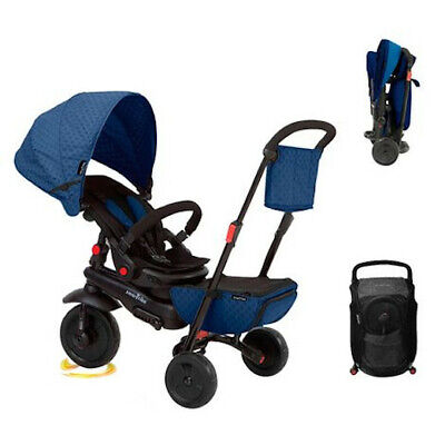 SmarTrike 8 In 1 Folding Outdoor Baby Tricycle For 6 Months To 3 Years Navy Blue • 99.99£