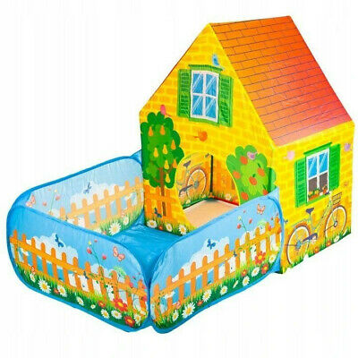 TENT GARDEN HOUSE WITH FENCE  Kids Childrens  • 19.90£