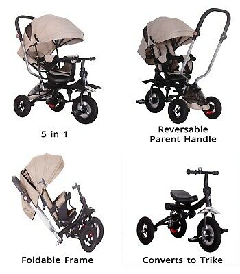 5 In 1 Tricycle Kids Trike, Tricycle Stroller Child Push Chair Reversible Seat  • 78.99£