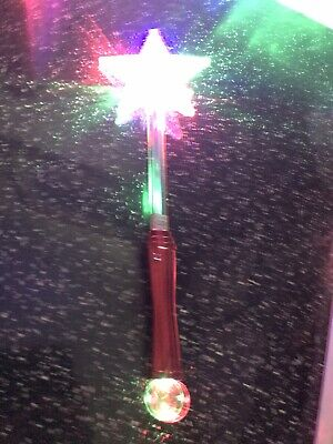 Child's Flashing Multi Coloured Wand Star Wand Various Flashing Options • 0.99£