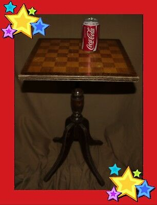 Vintage Chess Draughts Table Wood Wooden  • 375£