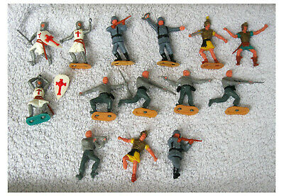 Bundle Of Timpo Figures - Knights - German Soldiers - Romans - Job Lot • 9.50£