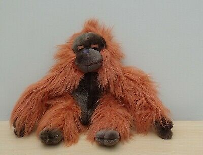Plush Soft Toy Orangutan Monkey ~ Long Fur ~ Sitting 9  • 4.90£