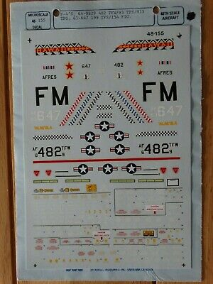 2 Superscale 1/48 F-4 Phantom Decals, US ANG, #155, #156 • 6£