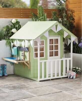 Kids Wooden Outdoor Playhouse • 319£