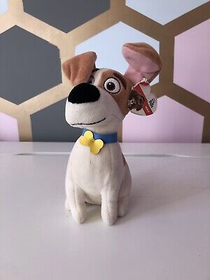 """L1) NWT MAX Jack Russell Terrier Secret Life Of Pets TY Beanie Baby 8"""" • 0.99£"""