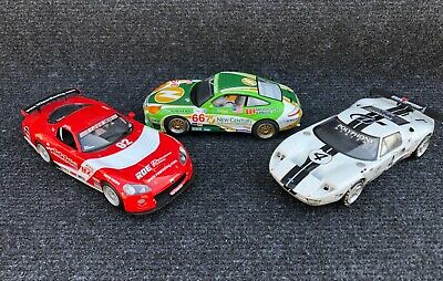 Scalextric Porsche 911GT3R, Dodge Viper & Ford GT 1/32 Scale Digital Slot Cars • 22£