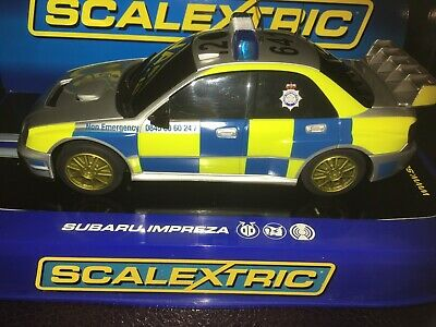 Scalextric C3068 Subaru Impreza 2006 Police Car New Boxed • 69£