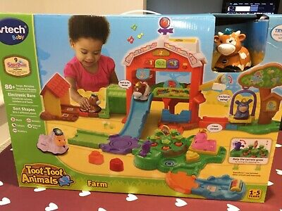 Vtech Toot Toot Animals Farm Age 1 Baby Toy Boxed With All Manuals • 18£