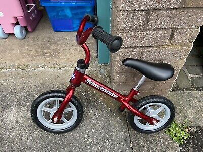 Kids Chicco Red Bullet Balance Bicycle/bike Helps Acquire Balance Metal Frame • 15.50£