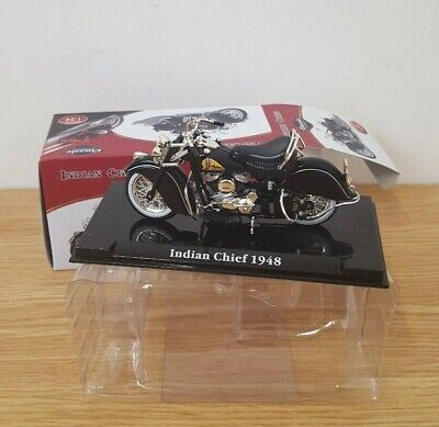 Indian Chief 1948 Atlas Classic 1-24 Scale Motorcycle Model Boxed • 4.99£