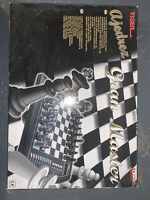 VINTAGE TIGER GRANDMASTER  CHESS COMPUTER ELECTRONIC TRAINING - 72 Levels • 30£
