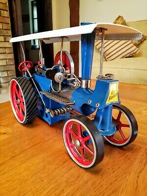Steam Traction Engine Model By Wilesco Old Smokey. • 102£