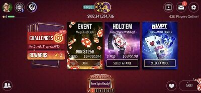 SPECIAL OFFER!!!! Zynga Account 860B With Unlocked Tables $200B/1T • 44.99£