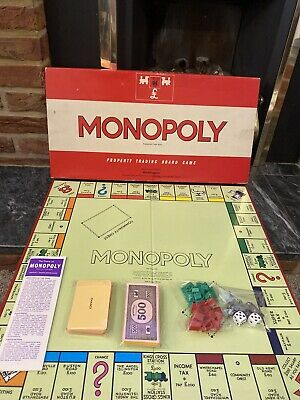 Vintage Waddingtons Monopoly Classic 1961 Board Game In Excellent Condition • 29.99£