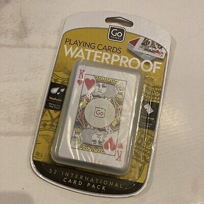 Go Travel Waterproof Playing Cards 52 International Card Pack • 2.99£
