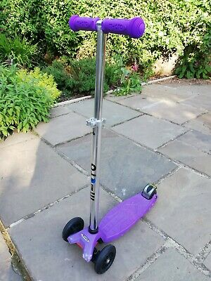 Maxi Micro Scooter, Purple, Good Condition, New Handle Grips • 20£