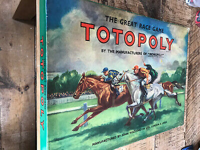 Vintage Waddington's Totopoly Board Game With Metal Horses. • 19.95£