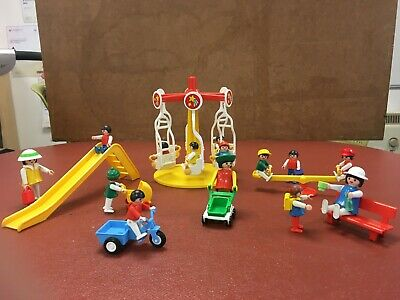 Playmobil Vintage Playground Collection Carousel Seesaw Slide & Lots Of Figures • 9.99£