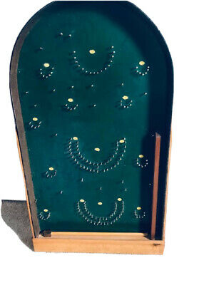 Handmade Bagatelle Wooden Pin Ball Board Game • 9.50£