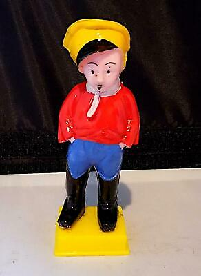 """Vintage Novelty Plastic """"Smoking Boy"""" Toy, Empire Made, 1950's Or 60's. • 0.95£"""