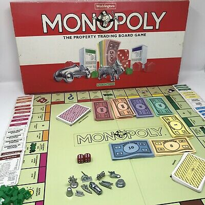 Vintage Waddingtons MONOPOLY BOARD GAME - Red Box - Family Property - Complete • 14.99£