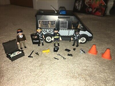 Playmobil Police Van & Accessories With Lights & Sounds Ex Con • 8.99£