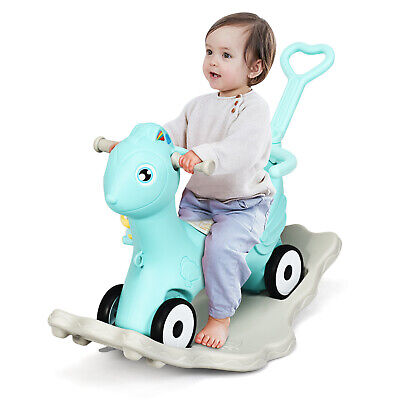 Balance Bike Baby Walker Push Ride On Toy Toddler Tricycle 4 Wheels 1-3 Years • 33.99£