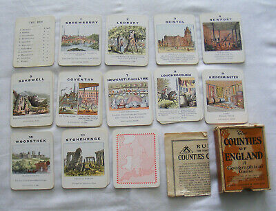 Jaques Counties Of England Card Game - Midland Counties • 10£