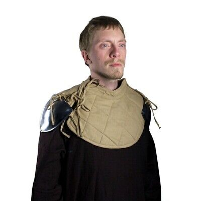 RFB Padded Metal Shoulder Armour. Ideal For Medieval Costume Or LARP • 37.50£