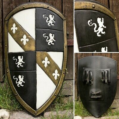 Foam & Latex White Lion Kite Shield - LARP / Roleplay Ready • 108£