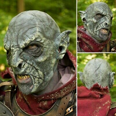 High Quality Latex Beastial Orc Blue Mask. Perfect For Costume, Stage & LARP • 63£