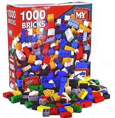 1000Pc Assorted Building Bricks Coloured Blocks Compatible Kids Creative Toy Set • 14.49£