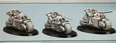 Warhammer 40k Indomitus Space Marine Outrider Outriders Squad X3 Bikes On Frame • 19.98£