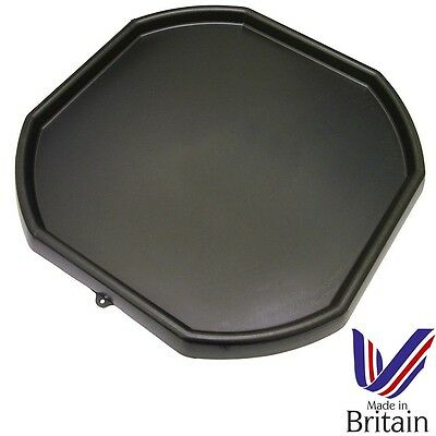 Large Black Plastic Mixing Tray Kids Play Sand Water Builders Spot For Cement • 14.50£