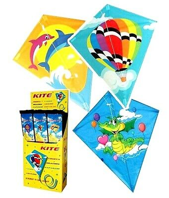 Large Diamond Kids Kite Flying Line Kites For Kids And Adults Outdoor Beach Fun • 6.99£
