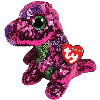 DINOSAUR Ty Flippables Stompy The T Rex  Size 16cm High Soft Toy • 9.29£