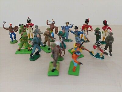 Lot Of Britains & Others Military Figurines Army Soldiers Indians @8B • 4.95£