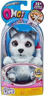 OMG Little Live Pets HUSKLES Dog - 15+ Sounds & Reactions  Electronic Pets - NEW • 16.99£