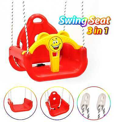 3 In 1 Children's Toddler Replacement Swing Seat Red • 19.85£