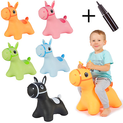 Inflatable Hopper Bouncer Jumping Toy Horse Hoppimals Active Kids Indoor Outdoor • 18.29£