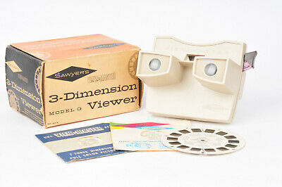Sawyers View-Master Model G 3D Viewer With Box, Manual And 3 Reels • 19.99£
